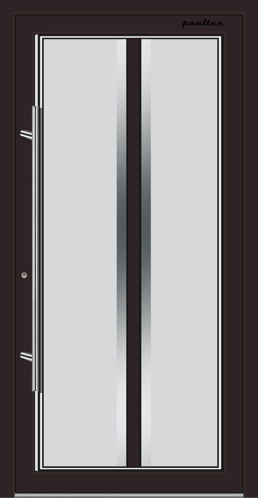 GGE28 GanzGlas-Haustüren Bad Homburg GGE1128BR-8017-Braun-Front